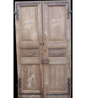 Porte double Directoire 128 x 230