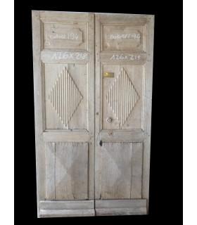 Porte double 126 x 218