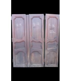 3 portes en noyer Louis XV 226x230