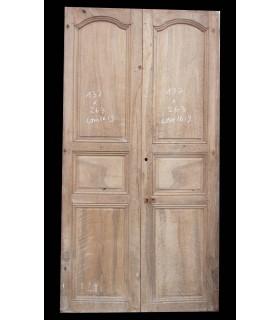 Paire de porte en Noyer 137 x 263