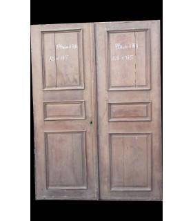 Paire de porte en chêne 125 x 175