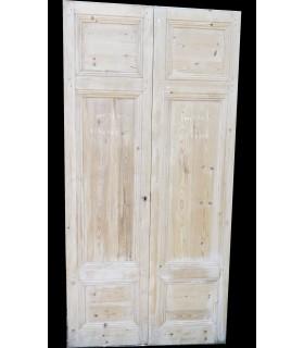Porte double en sapin 123 x 249