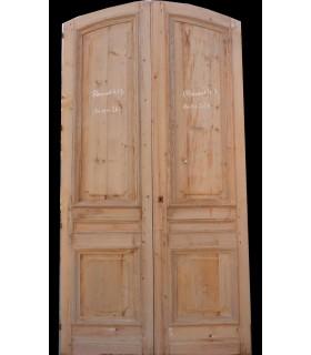 Portes Haussmanniennes sapin 140 x 265