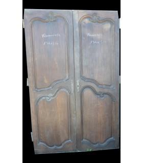 portes en chêne Louis XV 134 x 214