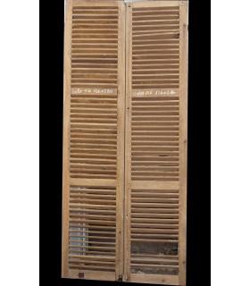 Volets persiennes en chêne 126 x 286