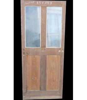Porte vitrée chêne et peuplier 85 x 199