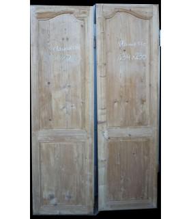 Paire de portes Louis XV 134 x 230