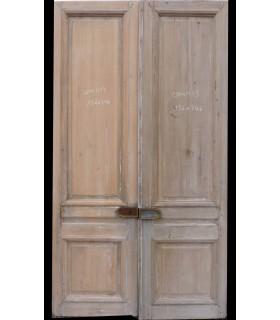 Paire portes Haussmannienne 136 x 246