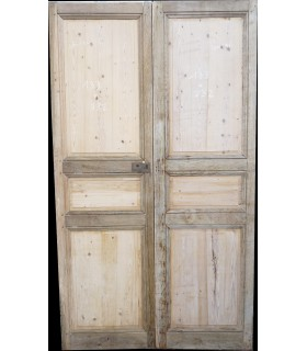 Double portes chêne et peuplier 133x232