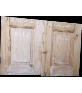 Paire de portes 77x53